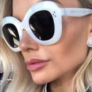 Celine oversized Lola sunglasses white frame